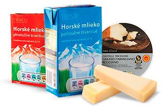 Tesco kvalita - Mlieko