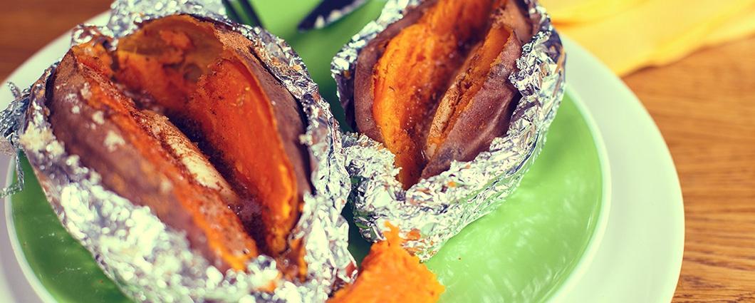 Pečené sladké zemiaky so škoricou