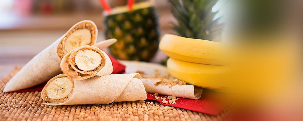 Banánový hotdog s orieškami