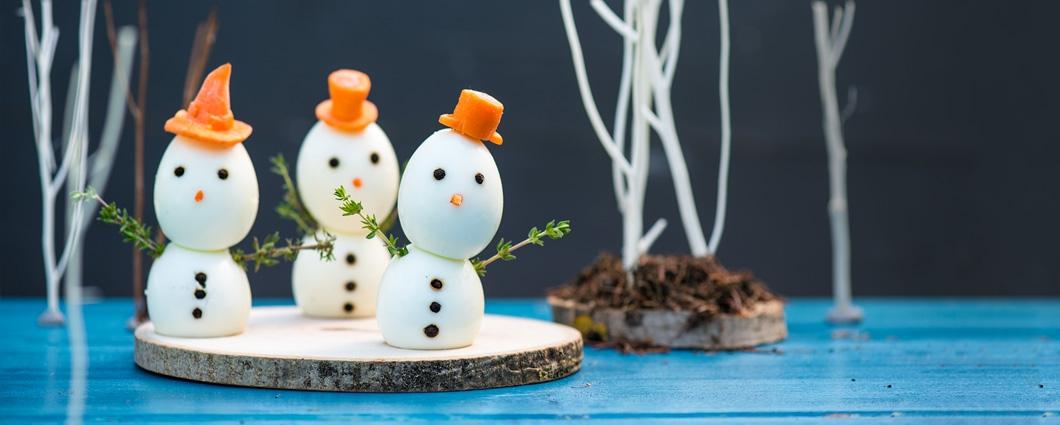 Vajíčkoví snehuliaci