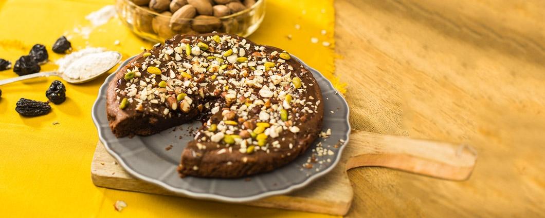 Čokoládový koláč so slivkami