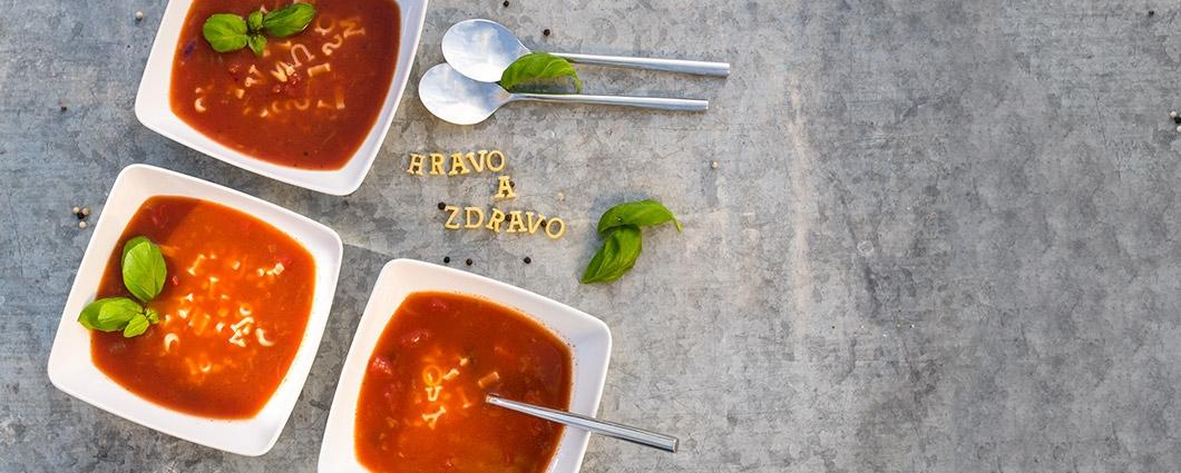 Domáca písmenková polievka
