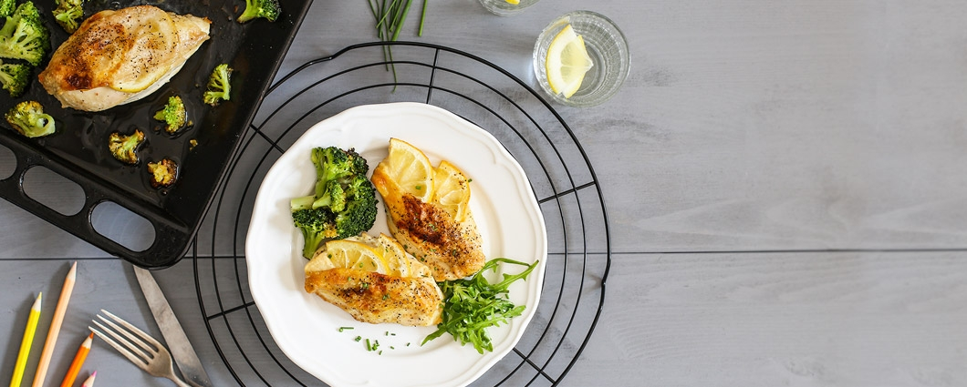 Kuracie prsia na citróne s brokolicou