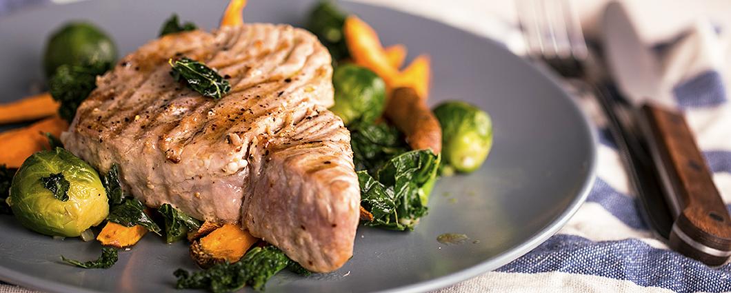 Tuniak sbatatmi a so zeleninou