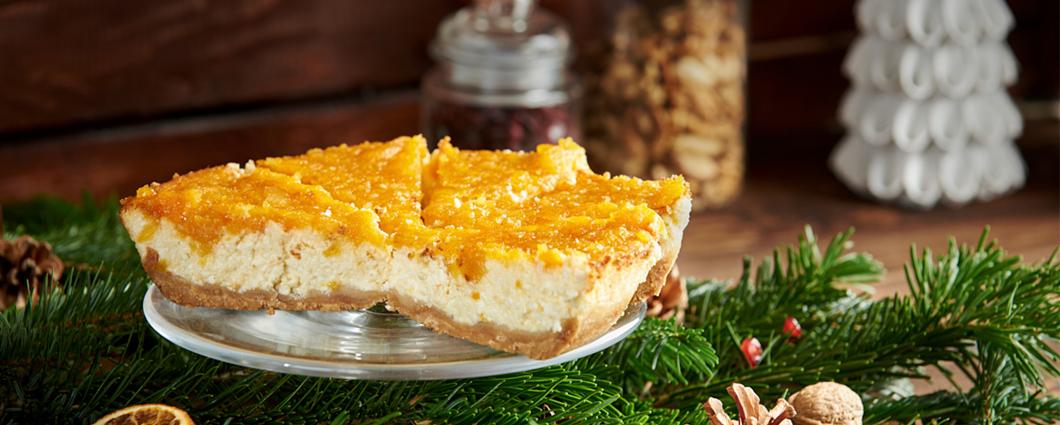 Vanilkový cheesecake so sušenými marhuľami
