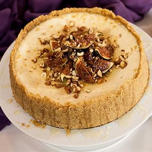 Vianočný cheesecake s figami