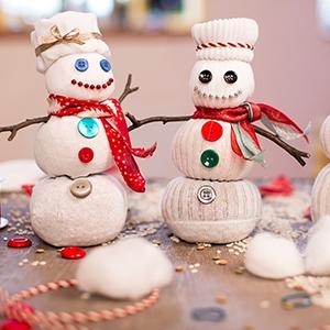 Ponožkoví snehuliaci