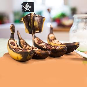 BBQ banánové loďky