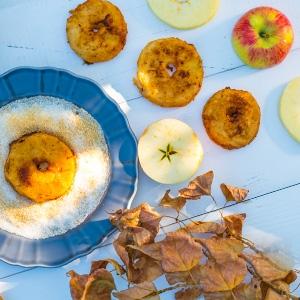 Jablkové krúžky s vanilkovým dipom