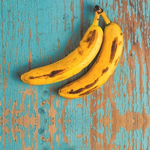 Ako minúť prezreté banány
