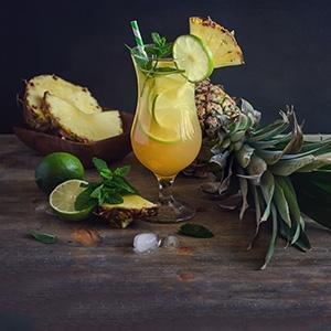 Nealkoholické ananásové mojito