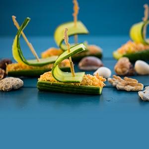 Uhorkové lodičky s kuskusom