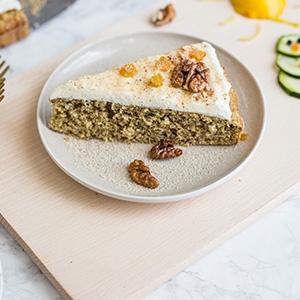 Cuketovo-orieškový koláč