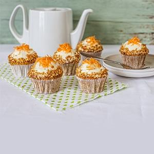 Mrkvové cupcaky s vanilkovým krémom