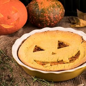 Halloweensky tekvicový cheesecake